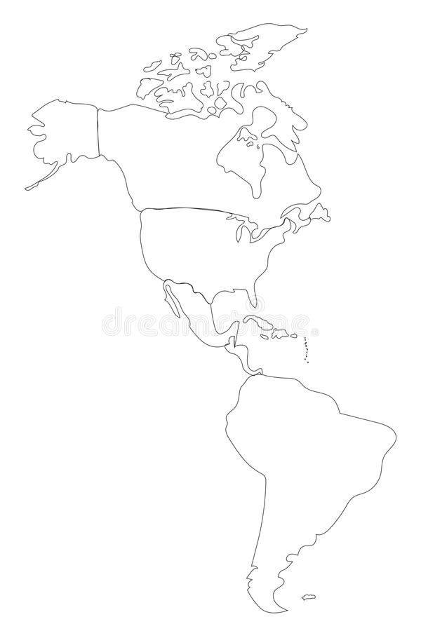 north and south america blank map - Towerssconstruction