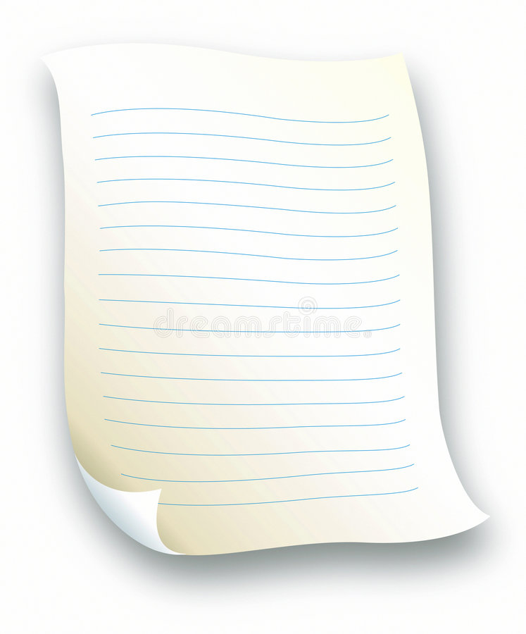 Lined Letter paper stock vector Illustration of notice - 511157 - lined letter paper