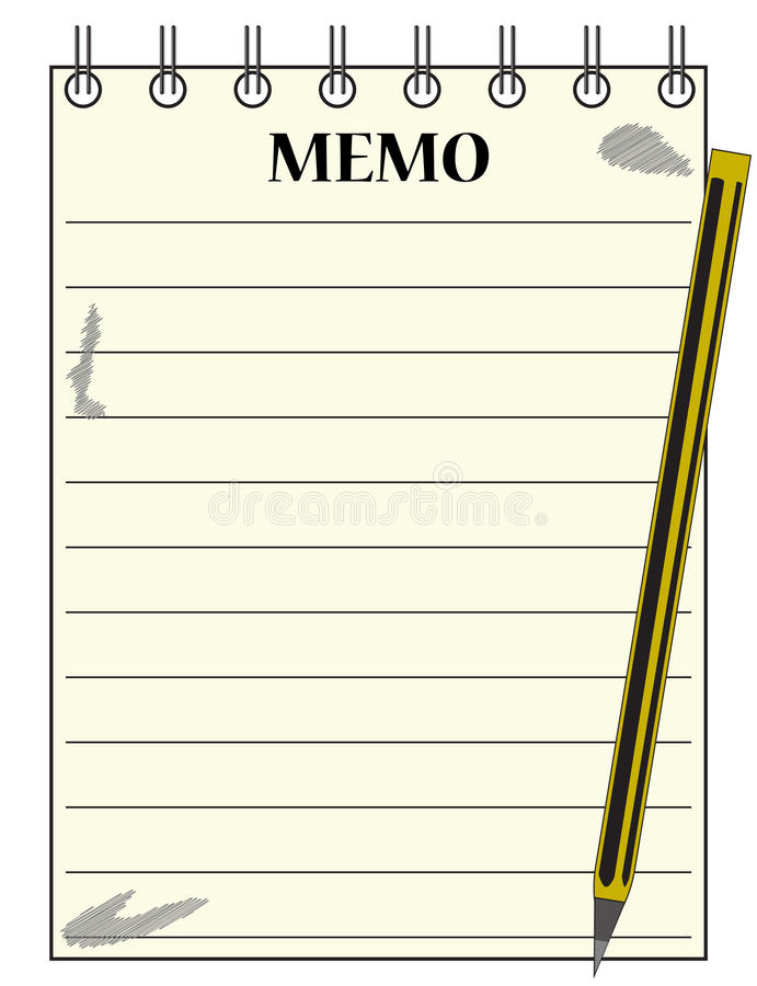 Lined Memo Notepad With Pencil Stock Photo - Image of sheet, message - blank memo template