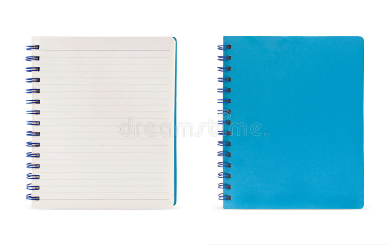 Lined Page And Blue Page (Clipping Path) Stock Image - Image 9101491 - lined page