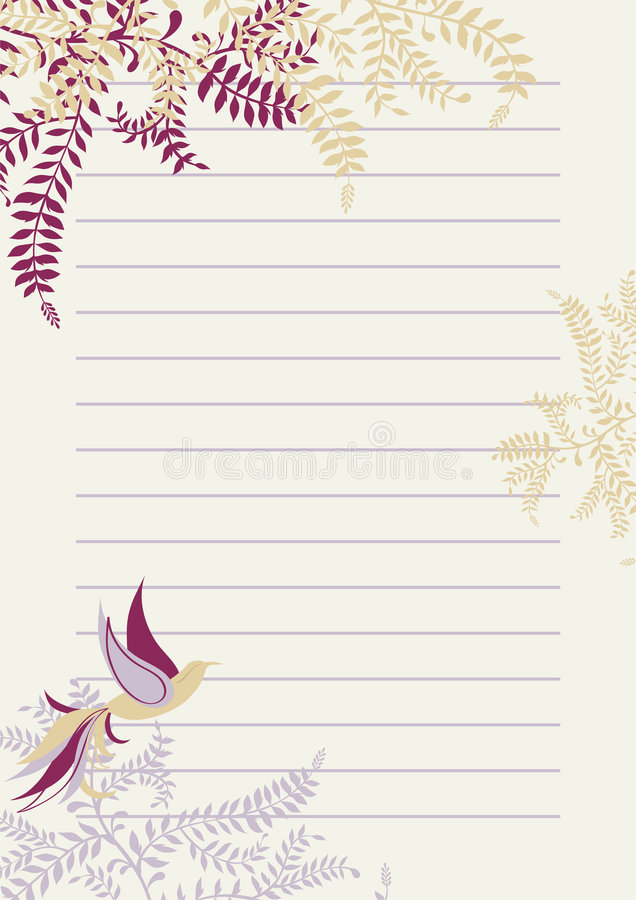 Lined Page with Decoration stock vector Illustration of bird - 9137167