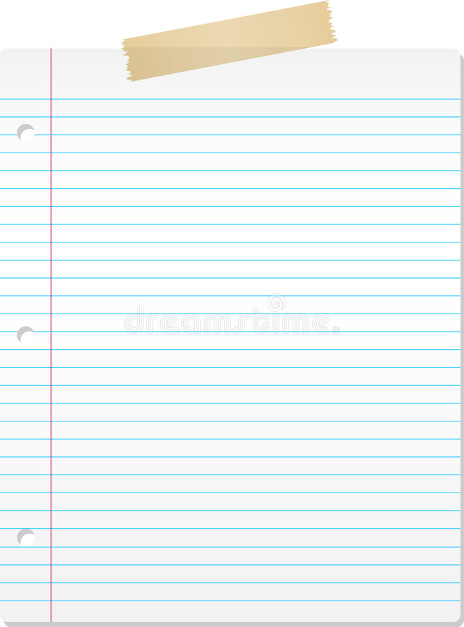 Lined paper stock vector Illustration of paper, supplies - 8826220