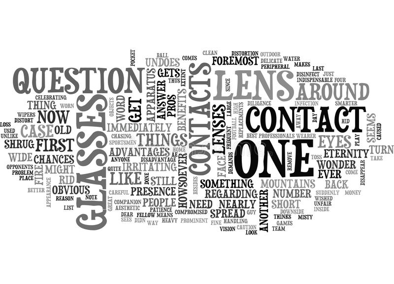 A List Of Contact Lens Benefits Word Cloud Stock Illustration