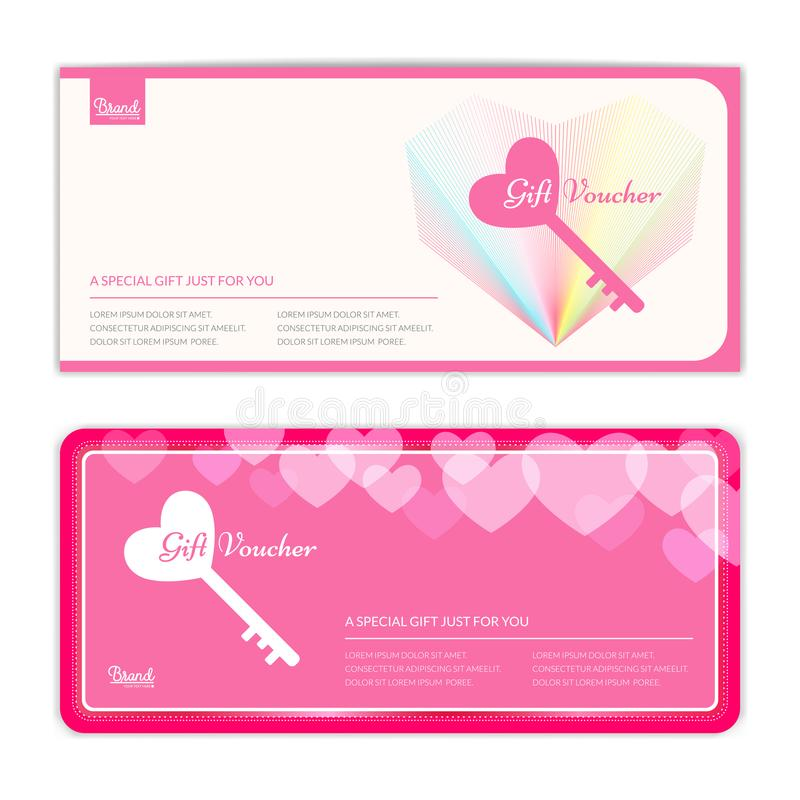 Love And Sweet Theme Gift Certificate, Voucher, Gift Card Or Cas