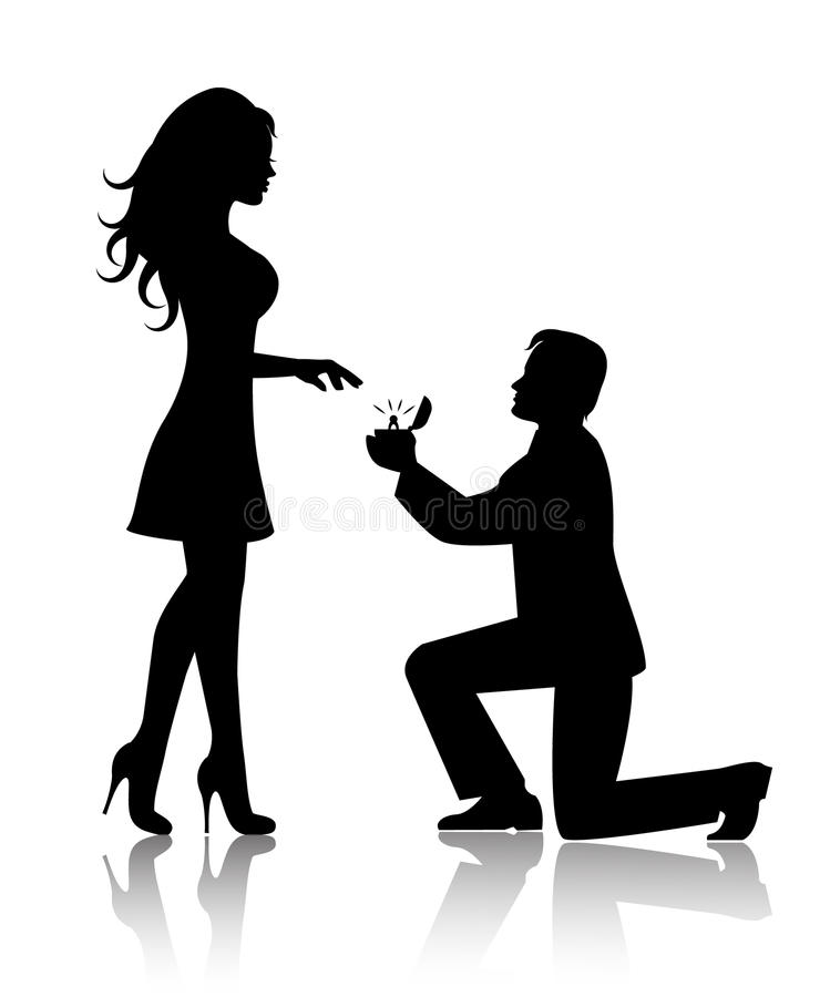 Fall Out Boy Symbol Wallpaper Man Proposes To The Woman To Marry Him Stock Vector