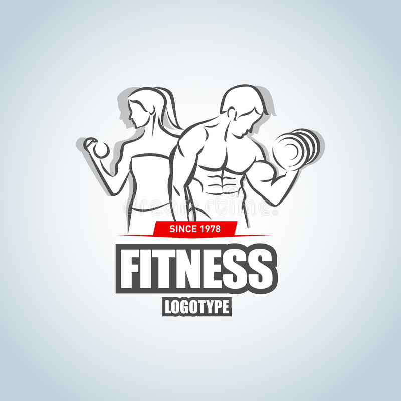 Man And Woman Fitness Logo Template Gym Club Logotype Sport - character model template