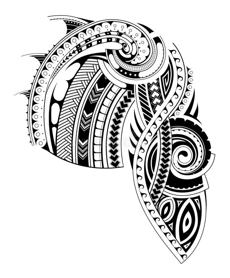 Maori Style Sleeve Tattoo Template Stock Vector - Image 86604266 - tattoo template