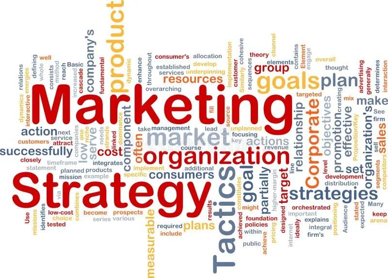 Marketing Strategy Word Cloud Stock Illustration - Illustration of