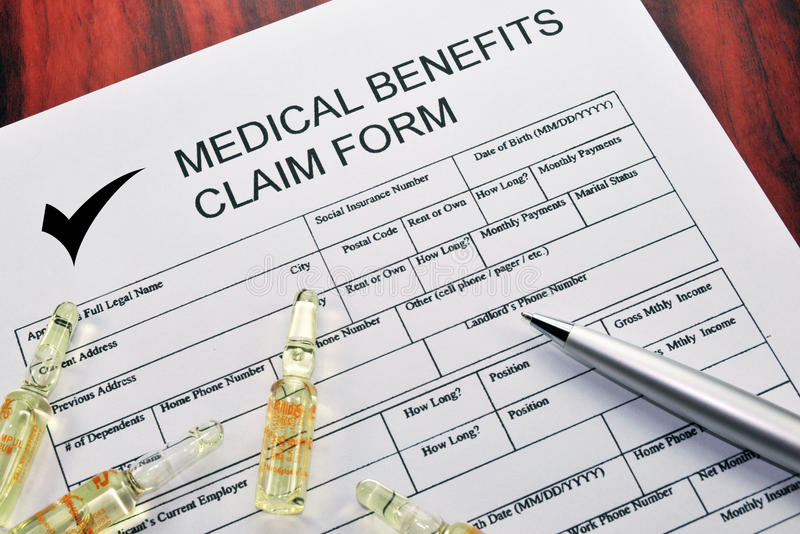 Medical Benefits Claim Form Stock Photo - Image of insurance, form