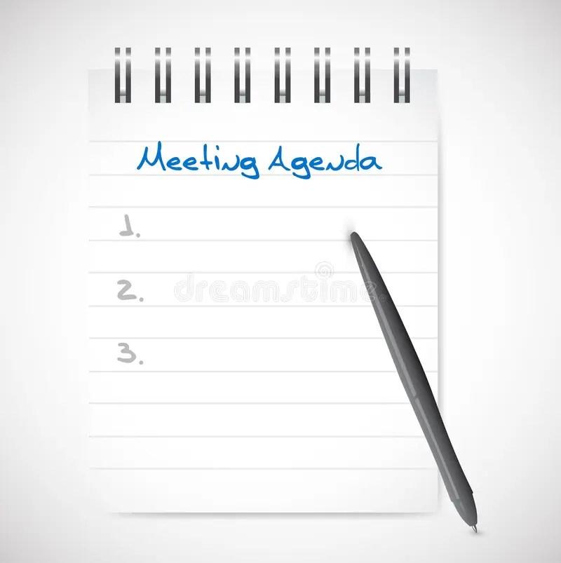 Meeting Agenda Notepad Illustration Design Stock Illustration - meeting note pad