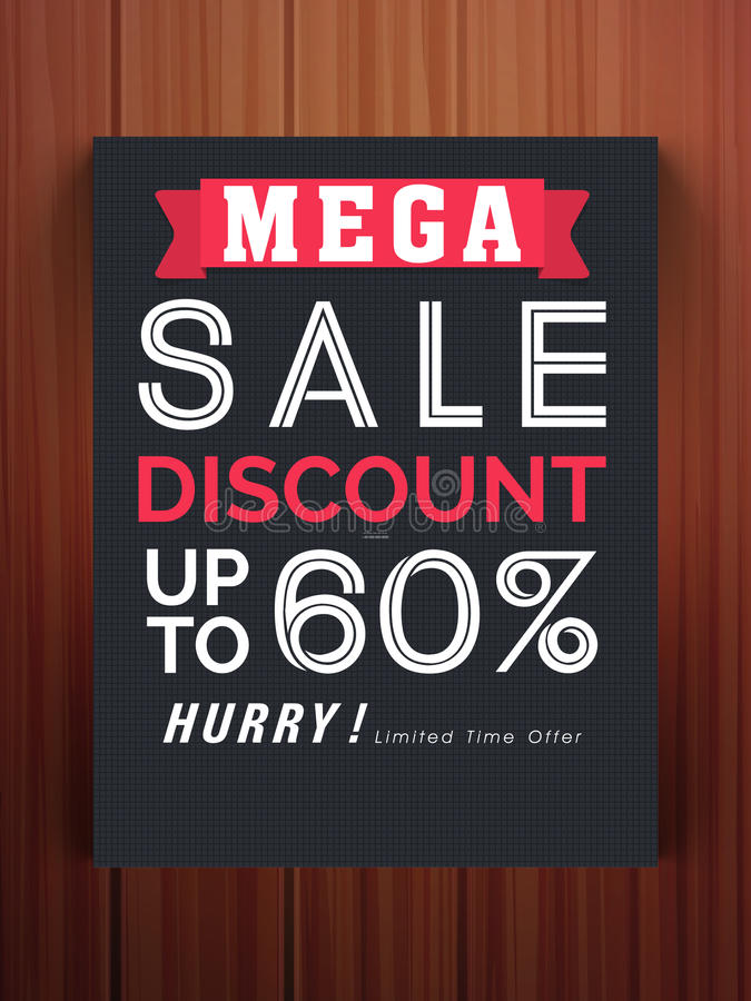 Mega Sale Flyer Or Template With Discount Offer Stock Photo - discount flyer template