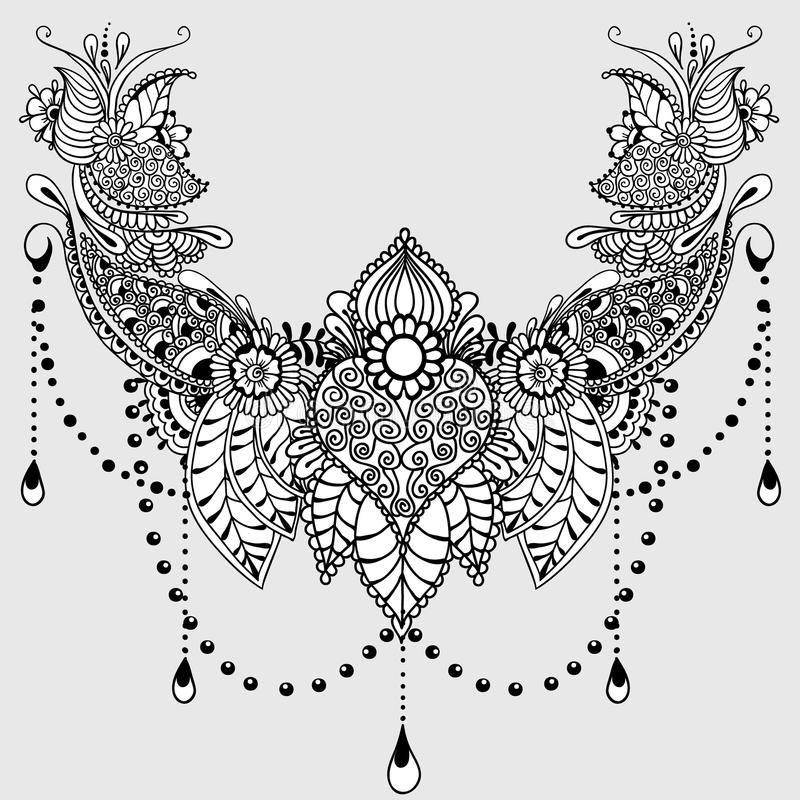 Mehndy Flowers Tattoo Template Stock Vector - Image 72307109 - tattoo template