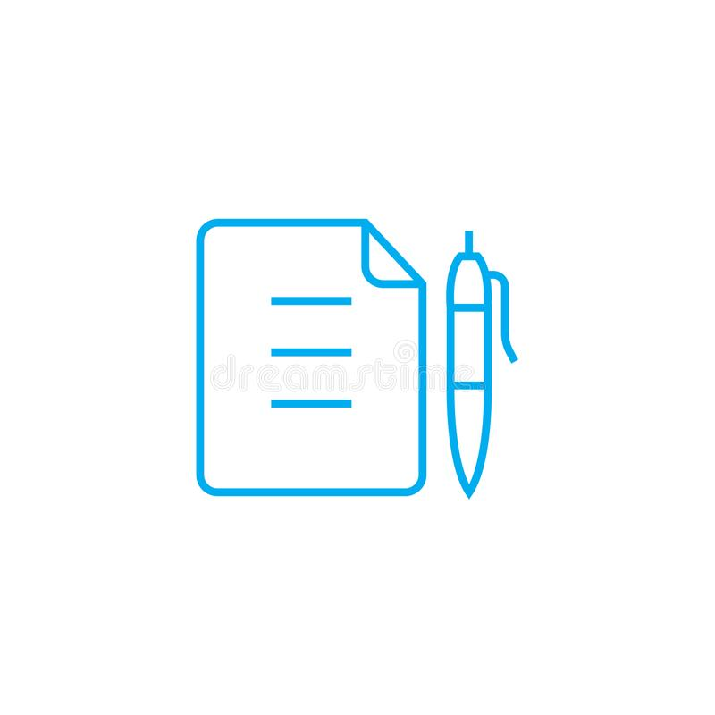 Memo Linear Icon Concept Memo Line Vector Sign, Symbol - how to sign a memo