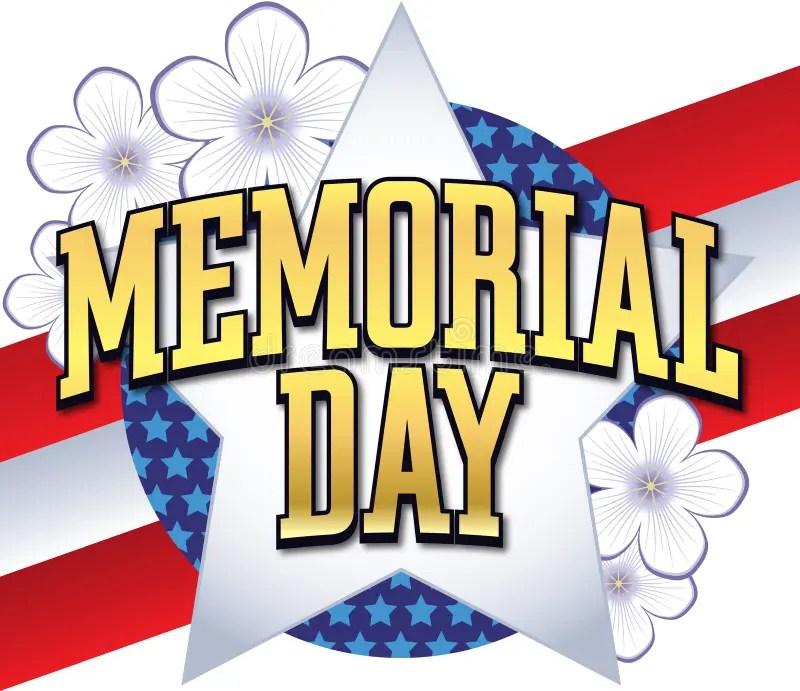 Memorial Day Logo Type stock vector Illustration of border - 14074668