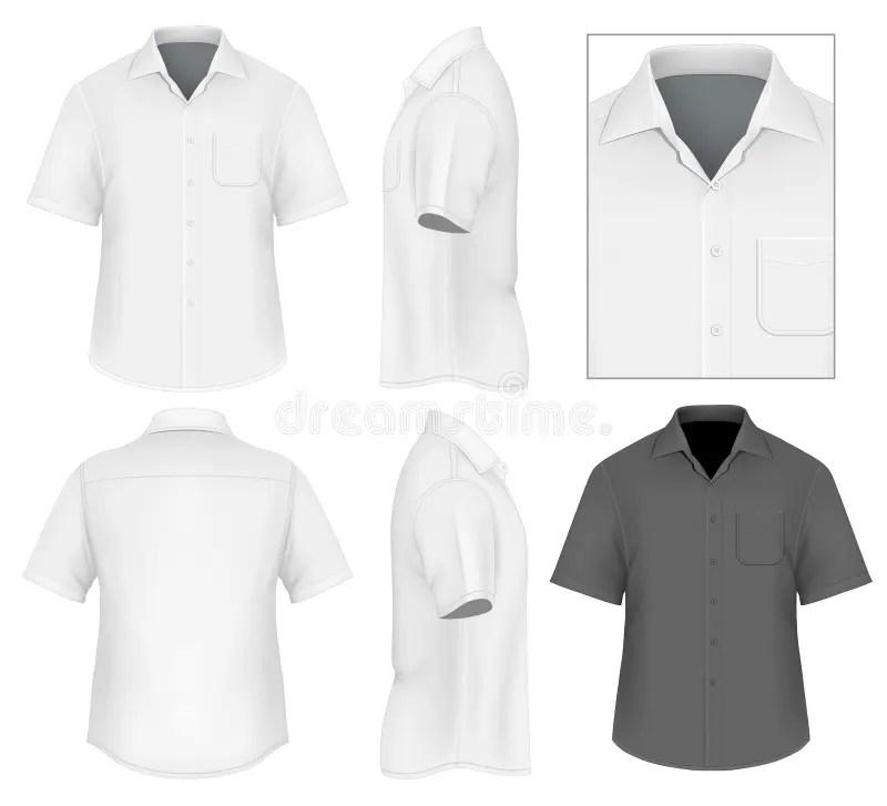 Men\u0027s Button Down Shirt Design Template Stock Vector - Illustration