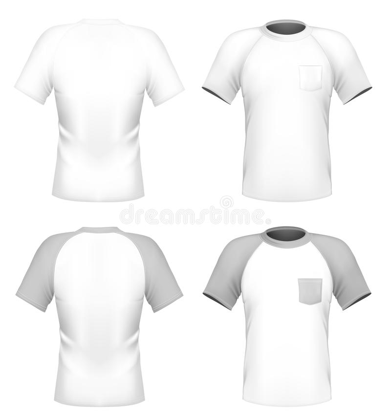 Men\u0027s T-shirt Design Template With Pocket Stock Vector - pocket t shirt template