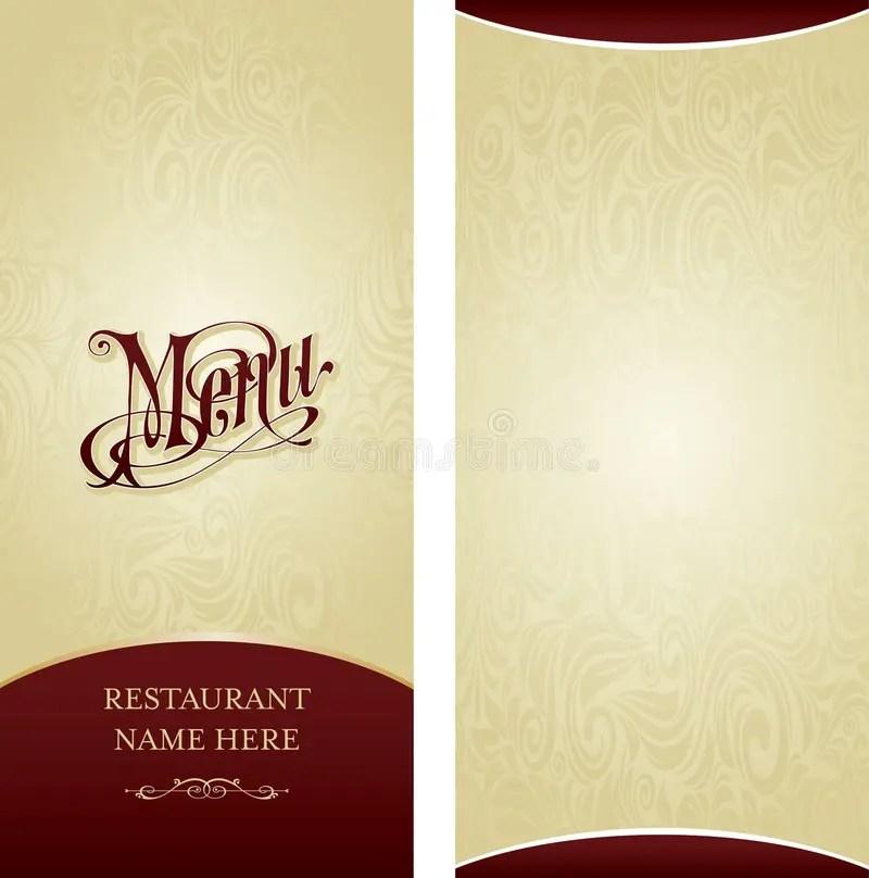 Menu design template stock illustration Illustration of decorate