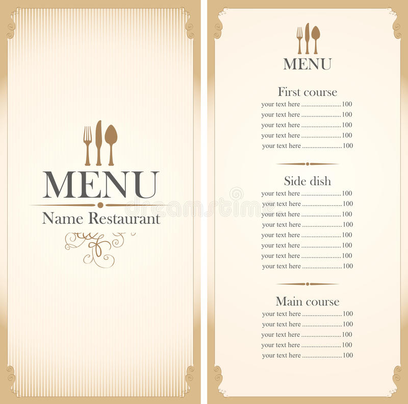 Menu template stock vector Illustration of blank, cover - 48449260