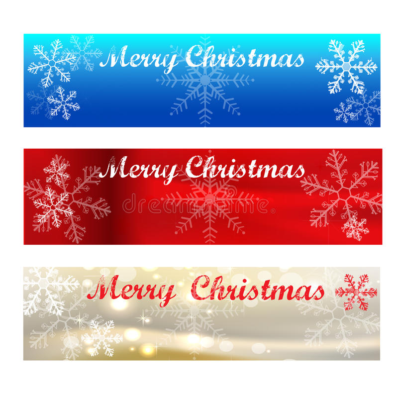 Merry Christmas Banners-colour Samples Stock Vector - Illustration - merry christmas email banner