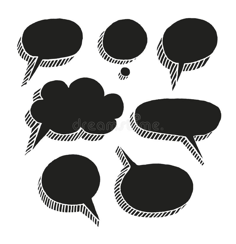Message Black Border-a Cloud On A White Background, Vector Stock - black border background
