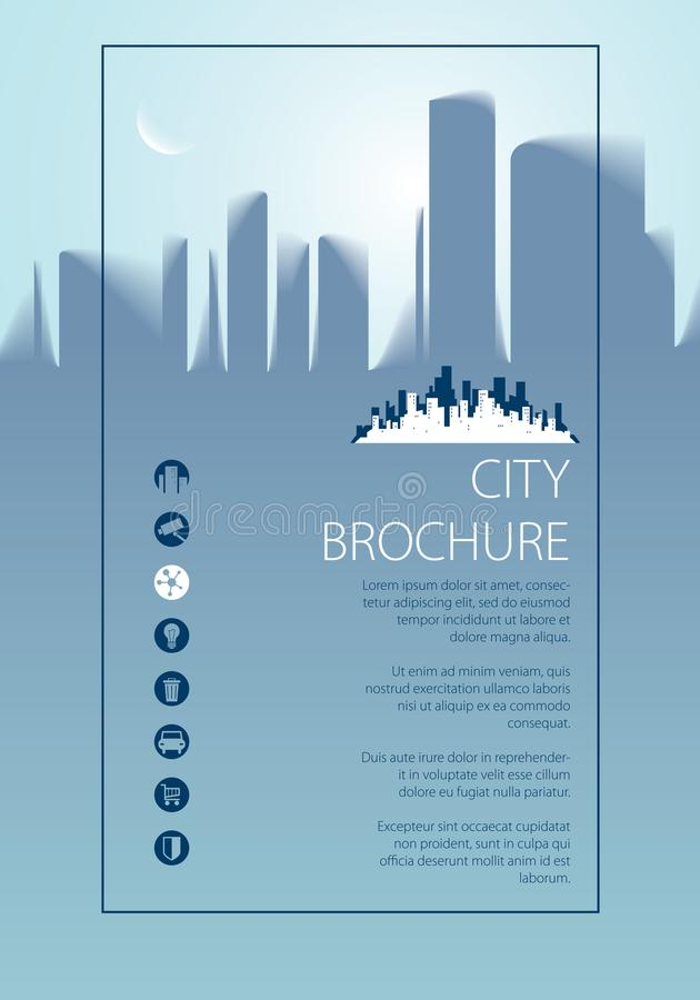 Minimal City Traveling Tourist Information Brochure, Flyer, Cov - guidebook template