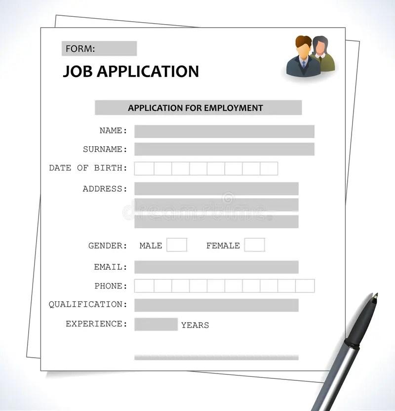 Minimalist Cv Resume Template - Job Application Form Stock Vector