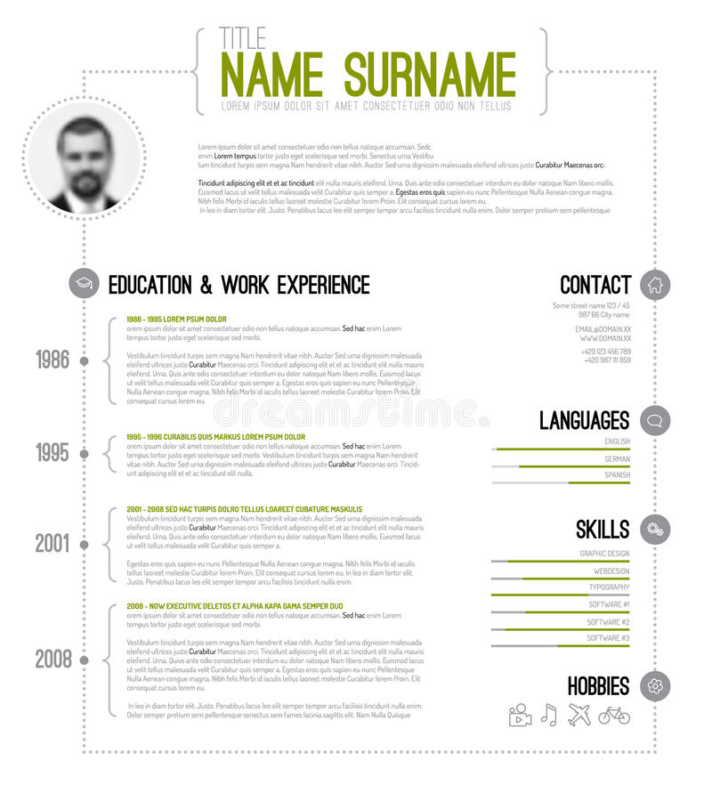 timeline resume template - Funfpandroid