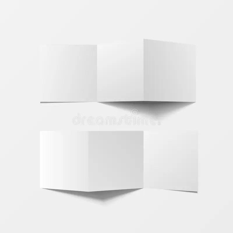 Mock Up 3d Leaflet Blank Top View For Brochure, Leaflet, Pamphlet - pamphlet layout template