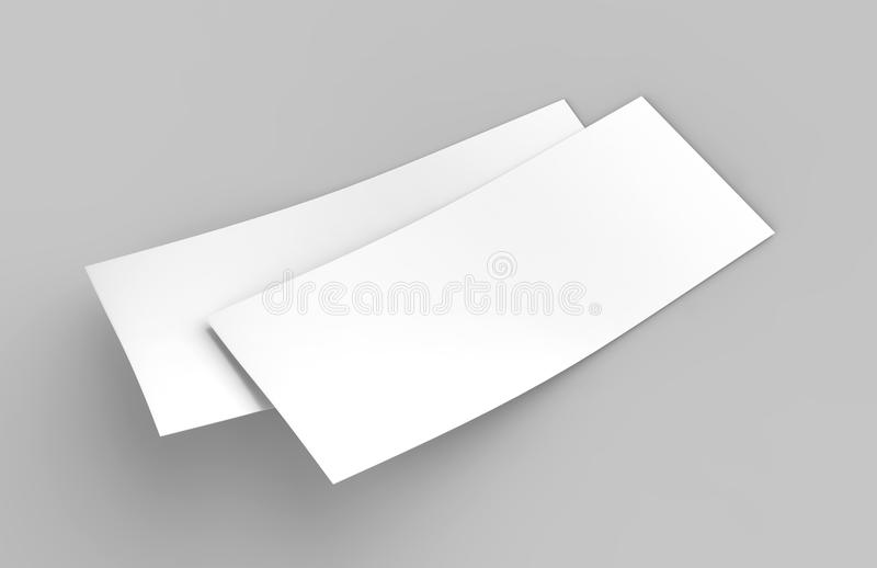 Mock Up Template Blank Empty Gift Voucher Card On The Grey