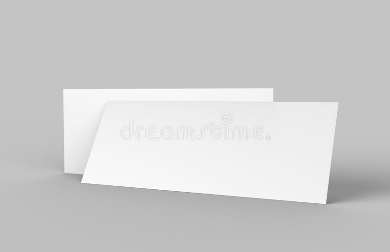 Mock Up Template Blank Empty Gift Voucher Card On The Grey - blank voucher