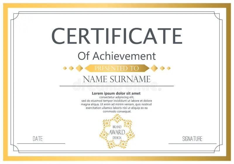 Modelo del certificado stock de ilustración Ilustración de cupón