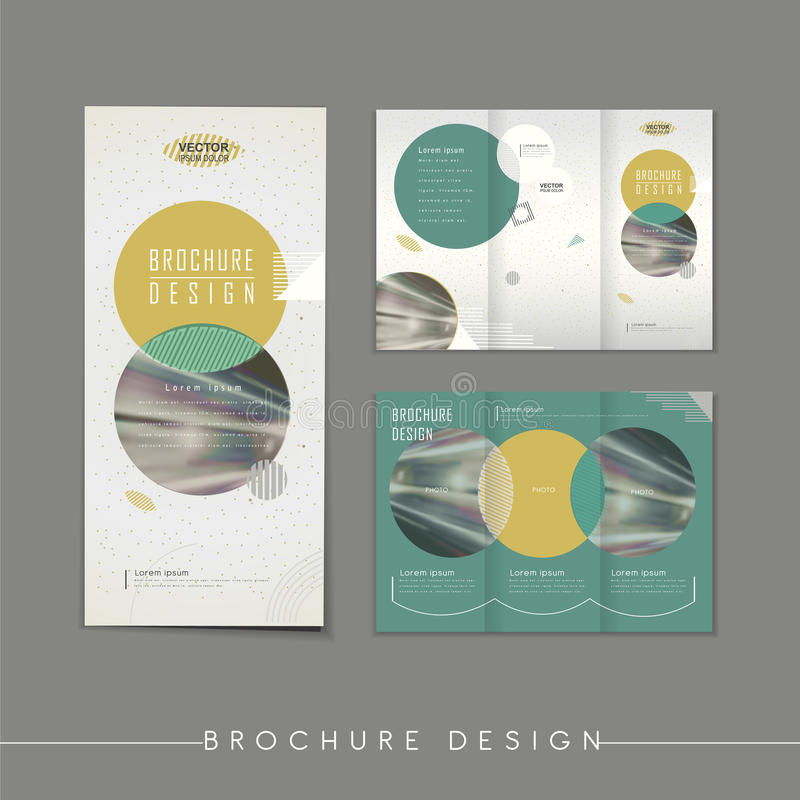 Modern Abstract Tri-fold Brochure Template Design Stock Vector - modern brochure design