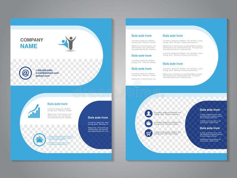 Modern Brochure, Abstract Flyer, Simple Design With Rounded Shapes