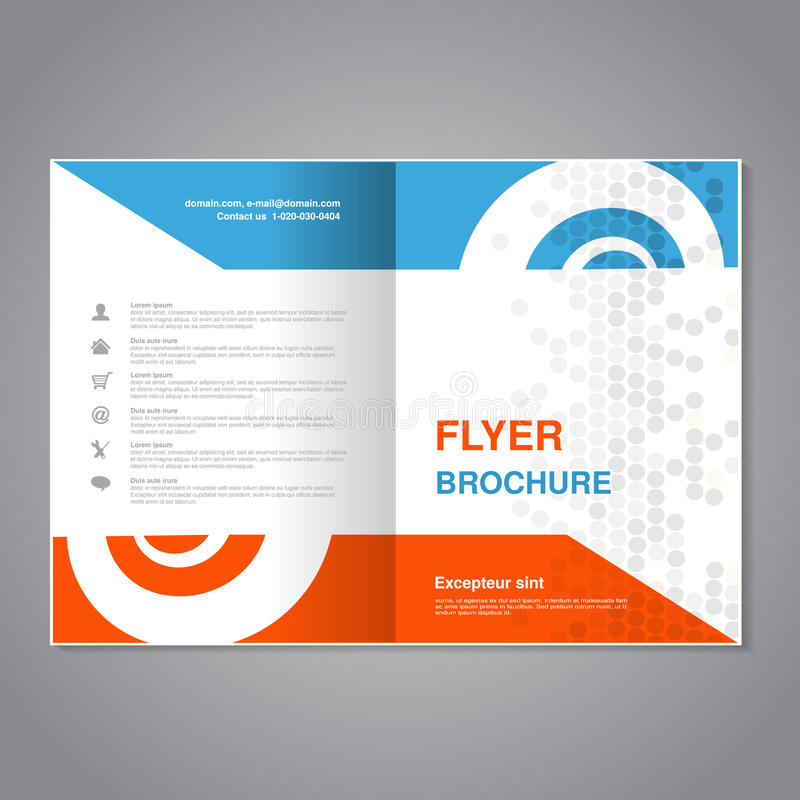 Modern Brochure, Abstract Flyer With Simple Dotted Design Layout