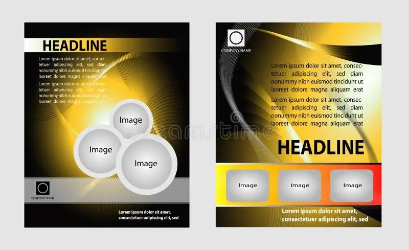 Modern brochure design set stock illustration Illustration of