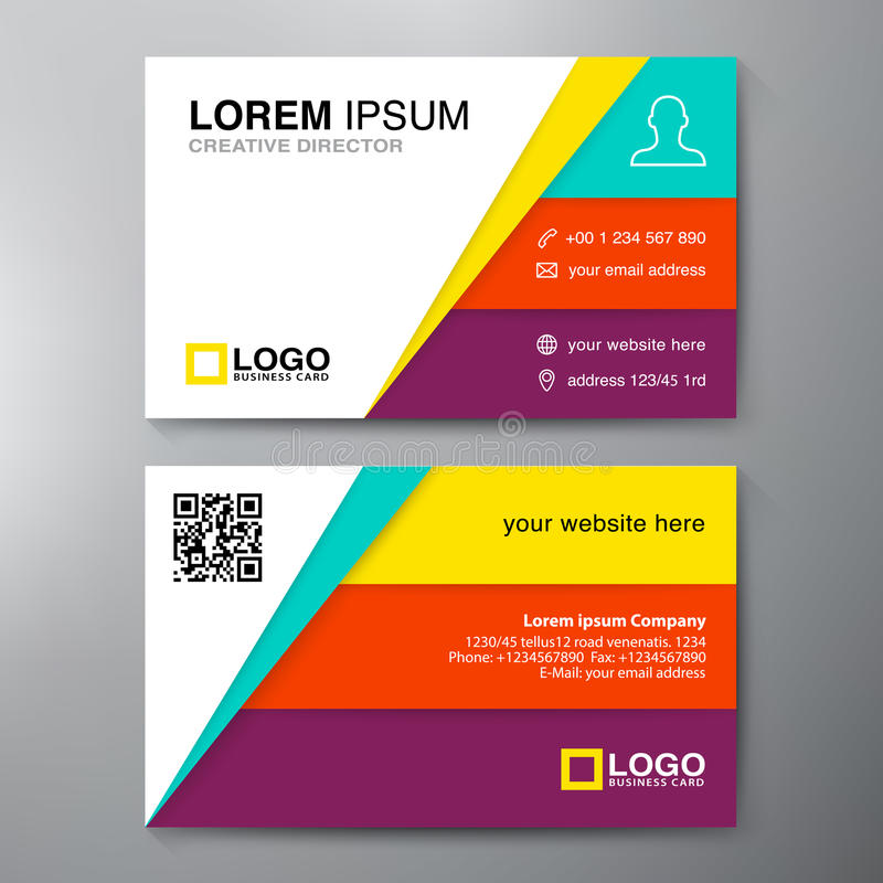 Modern Business Card Design Template Stock Vector - Illustration of