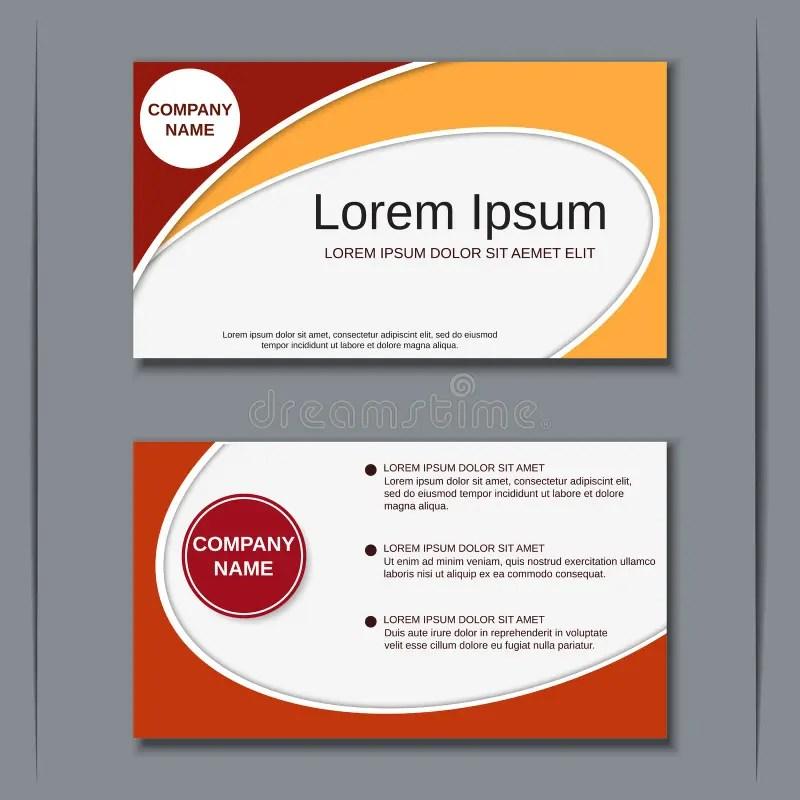 Modern Business Visiting Card Design Template Stock Vector