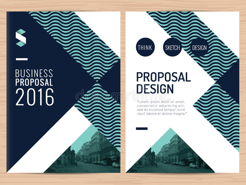 Modern Clean Business Proposal, Annual Report, Brochure, Flyer