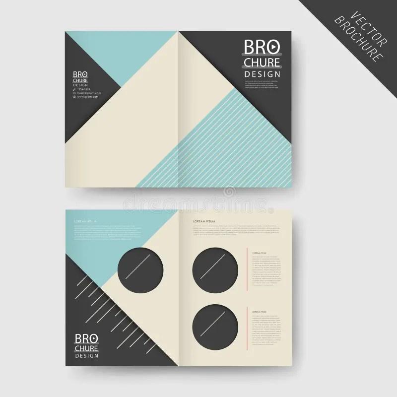 Modern Geometric Half-fold Brochure Stock Vector - Illustration of - half fold brochure template