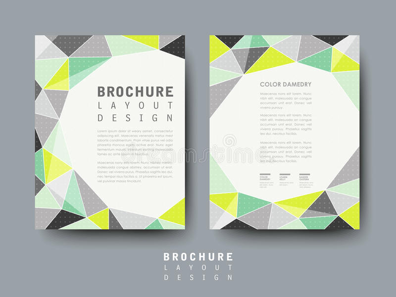 Modern Geometric Style Flyer Template Stock Vector - Illustration of
