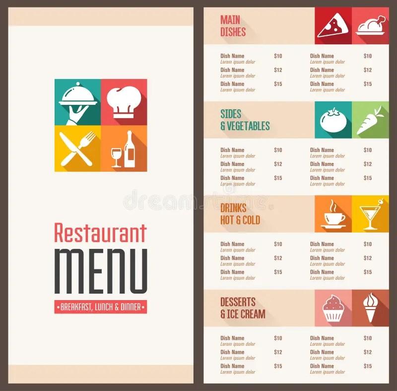 Modern menu Template stock vector Illustration of crockery - 58385462
