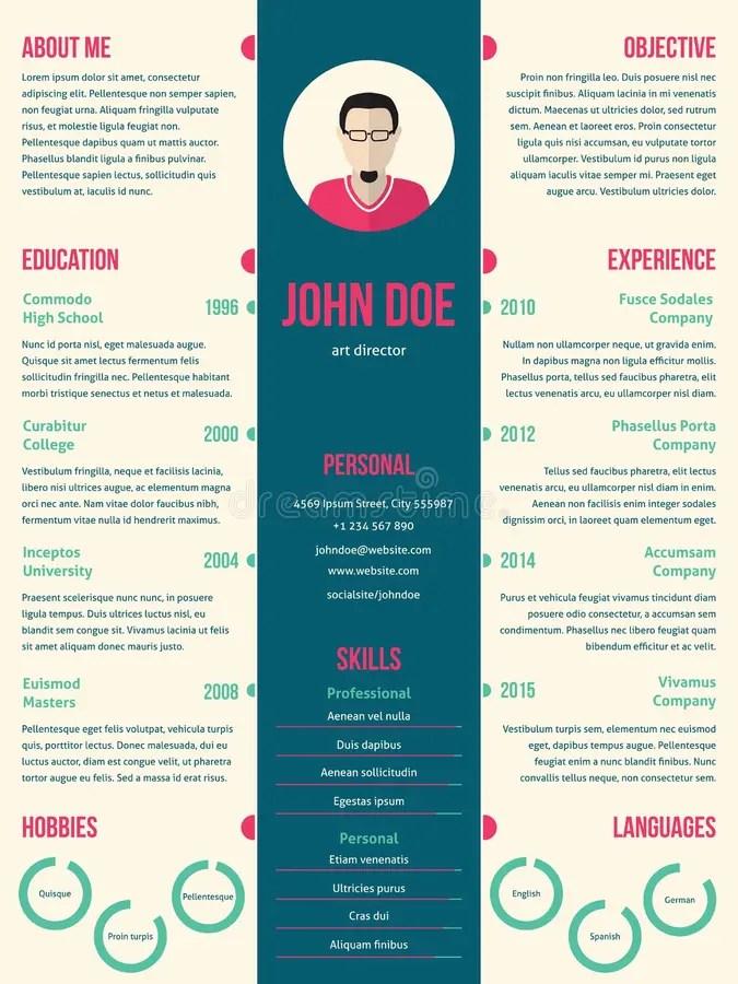 Modern Resume Cv Template For Employment Stock Vector - Illustration - modern resume template