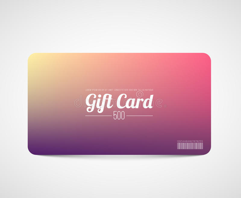 Modern Simple Gift Card Template Stock Vector - Illustration of - gift card template