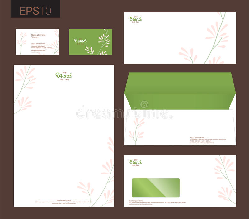 Modern Stationery Set In Vector Format, Letterhead, Business Car