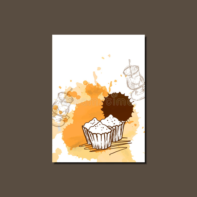 Modern Vector Template For Cupcake Brochure, Report, Poster, Banner