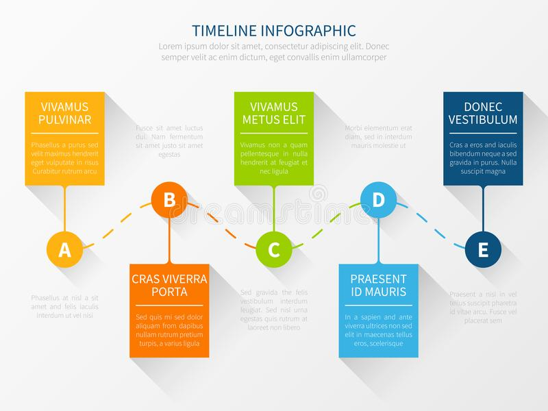 Modern Vector Timeline Workflow Chart Infographic Concept For - marketing presentation