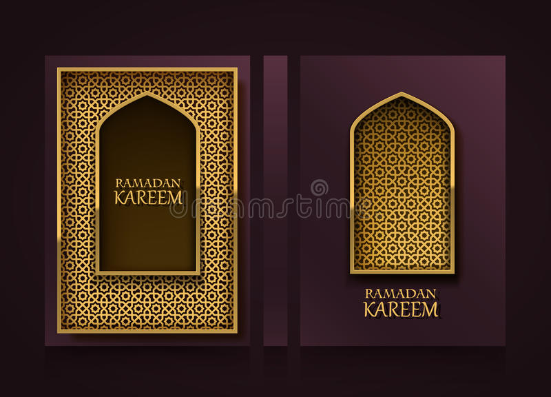 Modern Vertical Banners, Ramadan Kareem Cover, Mubarak Flyer - flyer background template