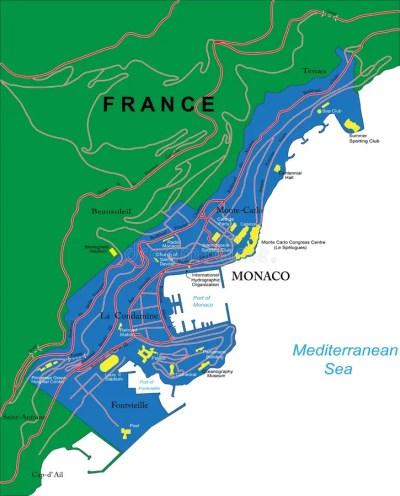 Monaco map stock vector. Illustration of monaco, destination - 31262076