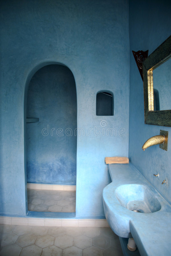 Lehmputz Farbe Moroccan Bathroom Stock Image. Image Of Arab, House, Guest