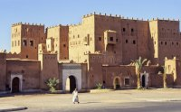 Moroccan palace stock photo. Image of gate, crenels, blue ...